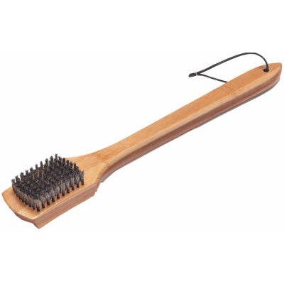Weber BBQ Grill Brush, Bamboo, 18-In