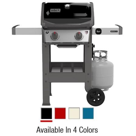 Weber Spirit II E-210 2-Burner LP Gas Grill, 26,500-BTU, Multiple Colors