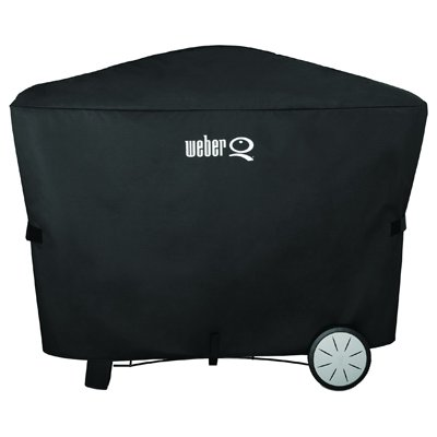 Weber Q Grill Cover, Fits Q2000 & Q3000 w/ Stationary Cart