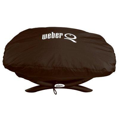 Weber Q Grill Cover, Vinyl Bonnet, For Q1000 & Q100
