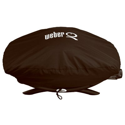 Weber Q Grill Cover, Vinyl Bonnet, For Q2000 & Q200